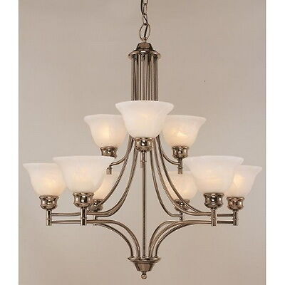 antique nickel 9 light chandelier ebay 87980
