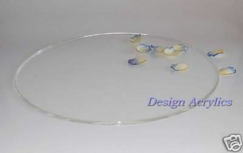 14 Quot Round Acrylic Wedding Cake Board Stand Plate Clear Ebay