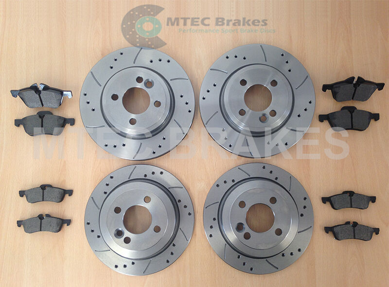 Bmw Mini One Cooper S Drilled Brake Discs Front Rear