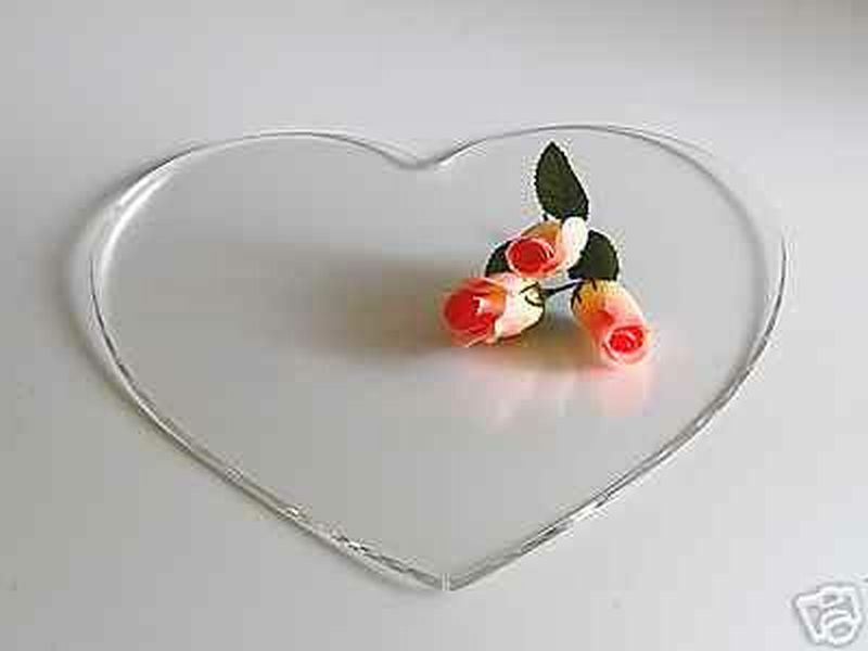 heart wedding cake stand 10 quot shape acrylic wedding cake board stand clear ebay 15184