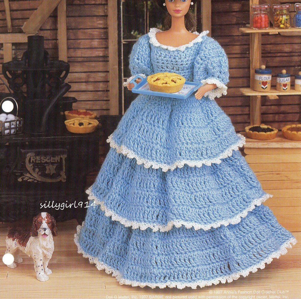 Old Fashioned Dolls With Crochet Dress