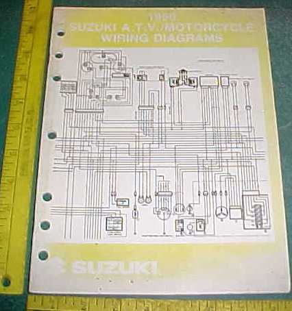1990 SUZUKI MOTORCYCLE   ATV    WIRING       DIAGRAM    SCHEMATICS   eBay