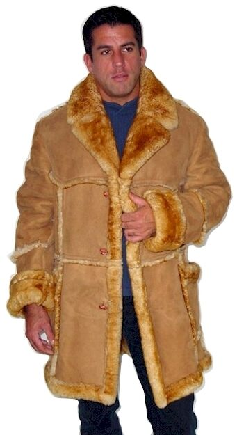 Men's Open Seam Marlboro Sheepskin Coat | eBay