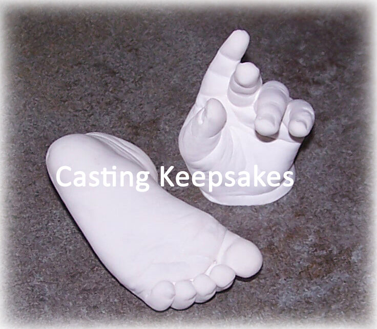 baby handprint and footprint plaster casting kit instructions