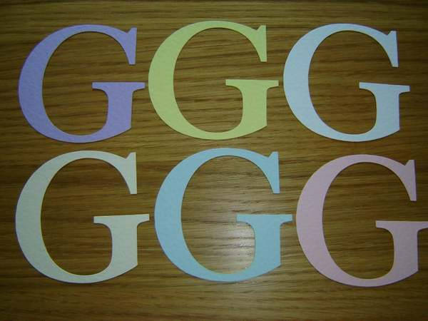 Alphabet letter g large die cuts for card toppers ebay for Large letter die cuts