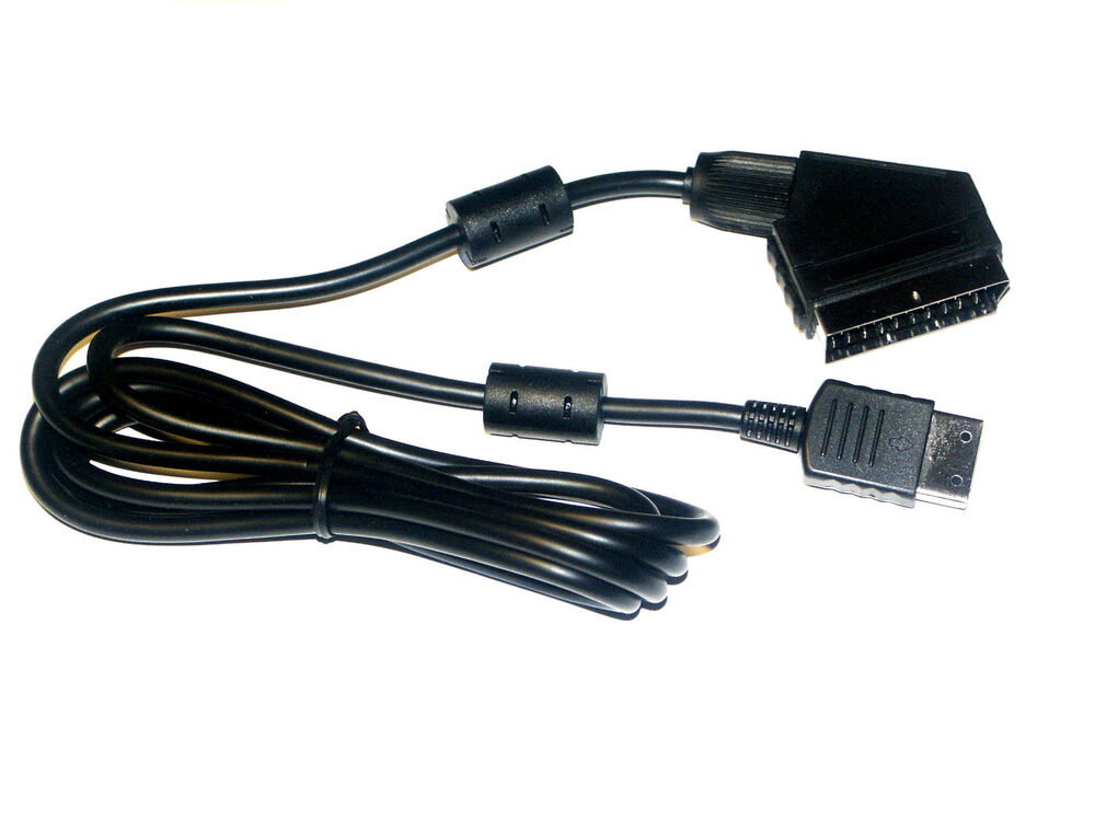 scart kabel rgb tv cable 2 0m f r sega dreamcast dc0002 ebay. Black Bedroom Furniture Sets. Home Design Ideas