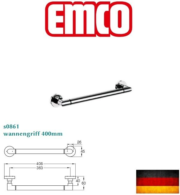 German made emco eposa s0861 iso bath towel holder w for German made bathroom accessories