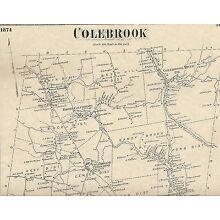 Colebrook Norfolk Robertsville CT 1874 Maps with Homeowners Names Shown