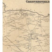 Chesterfield Crosswicks Sykesville NJ 1876 Maps with Homeowners Names Shown