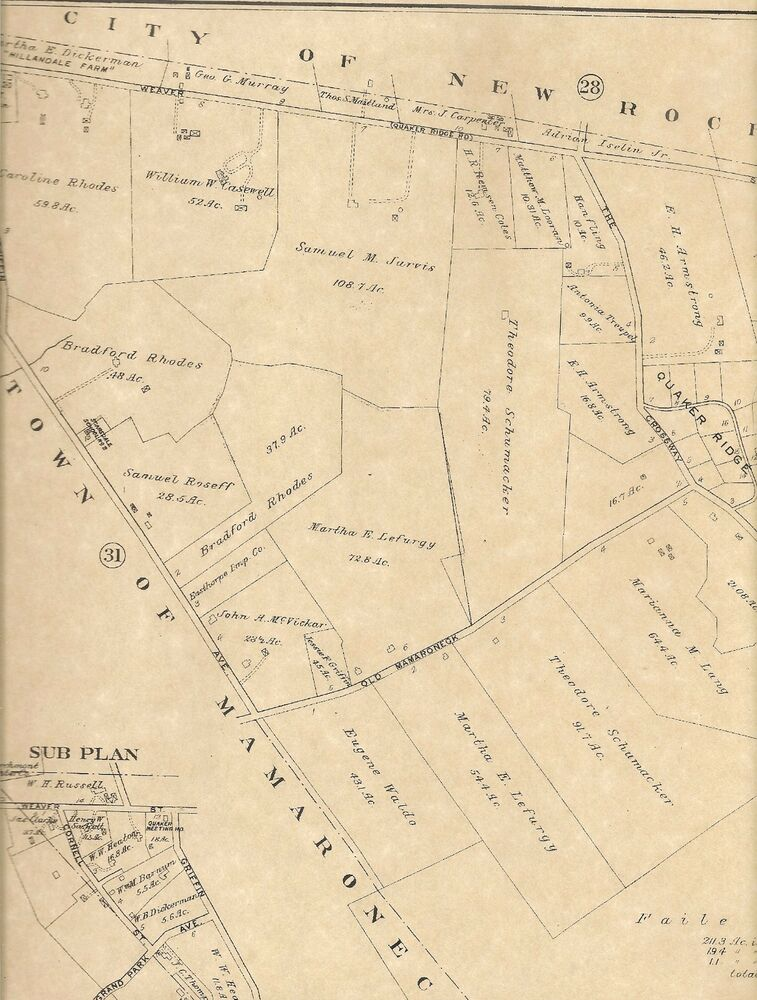 Murray Hill Nyc Map.Scarsdale Fox Meadow Murray Hill Ny 1910 Maps With Homeowners Names