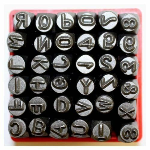 36 Pc Metal Letter And Number Stamp Punch Tool Set Ridge Rock 643845653187 Ebay