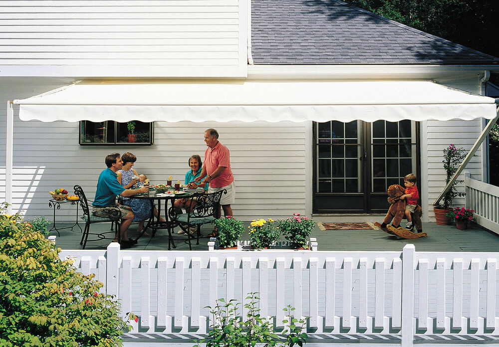 14 Ft Sunsetter 1000xt Retractable Awning Outdoor Deck