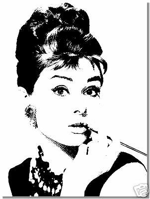 audrey hepburn portrait original gem lde handgemalt leinwand bilder ebay. Black Bedroom Furniture Sets. Home Design Ideas