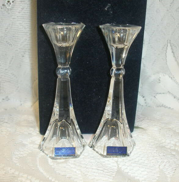 waterford crystal candle holders wedding gift set of 2 ebay