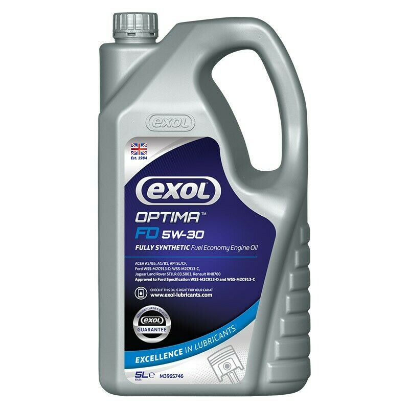 Exol fully synthetic engine oil 5w30 5 ltrs ford wss for Fully synthetic motor oil