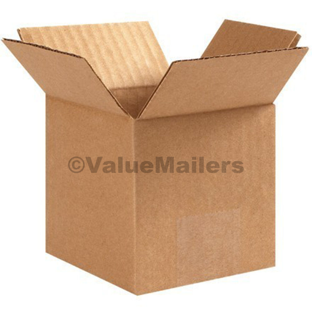 200 4x4x4 cardboard packing moving shipping boxes. Black Bedroom Furniture Sets. Home Design Ideas