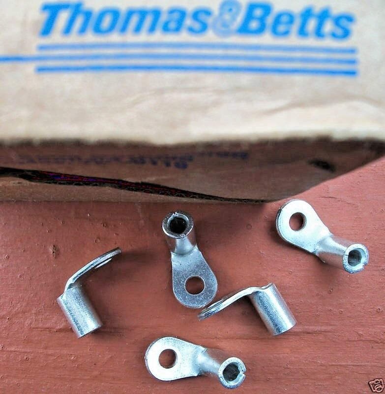 50 Amp Wire Size >> Pkg/25 Thomas & Betts Sta-Kon Ring Connector 90 Degree ...