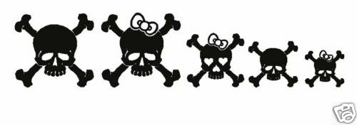 Skull Family Cross Bones Car Truck Decal Vinyl Sticker Ebay