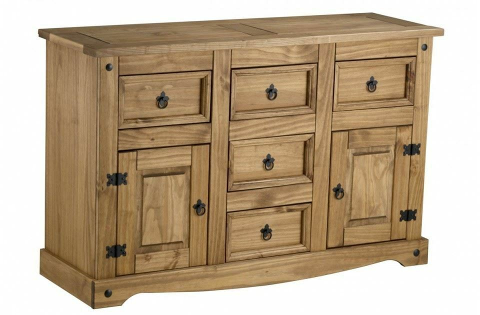 Corona Large Sideboard Mexican Pine Solid Wood Furniture Waxed Ebay