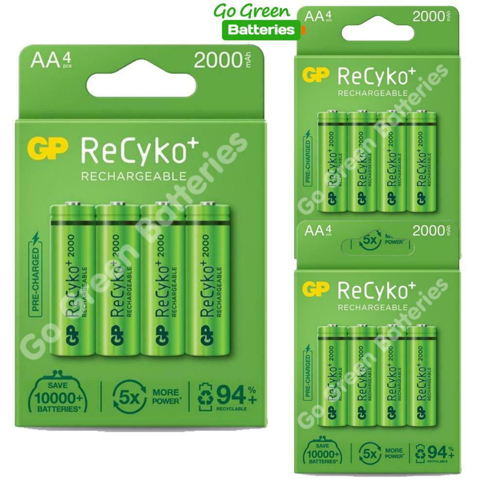 12 x gp recyko aa rechargeable batteries 2100 mah nimh ebay. Black Bedroom Furniture Sets. Home Design Ideas
