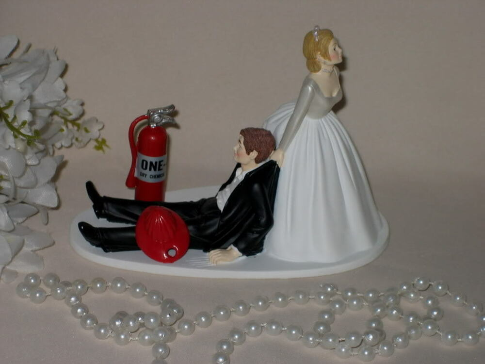 firefighter wedding cake toppers funny wedding reception fireman firefighrer cake topper 14267