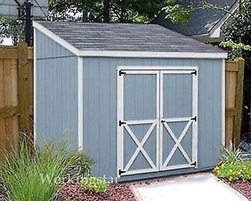 4 X 8 Slant Lean To Style Shed Plans Building