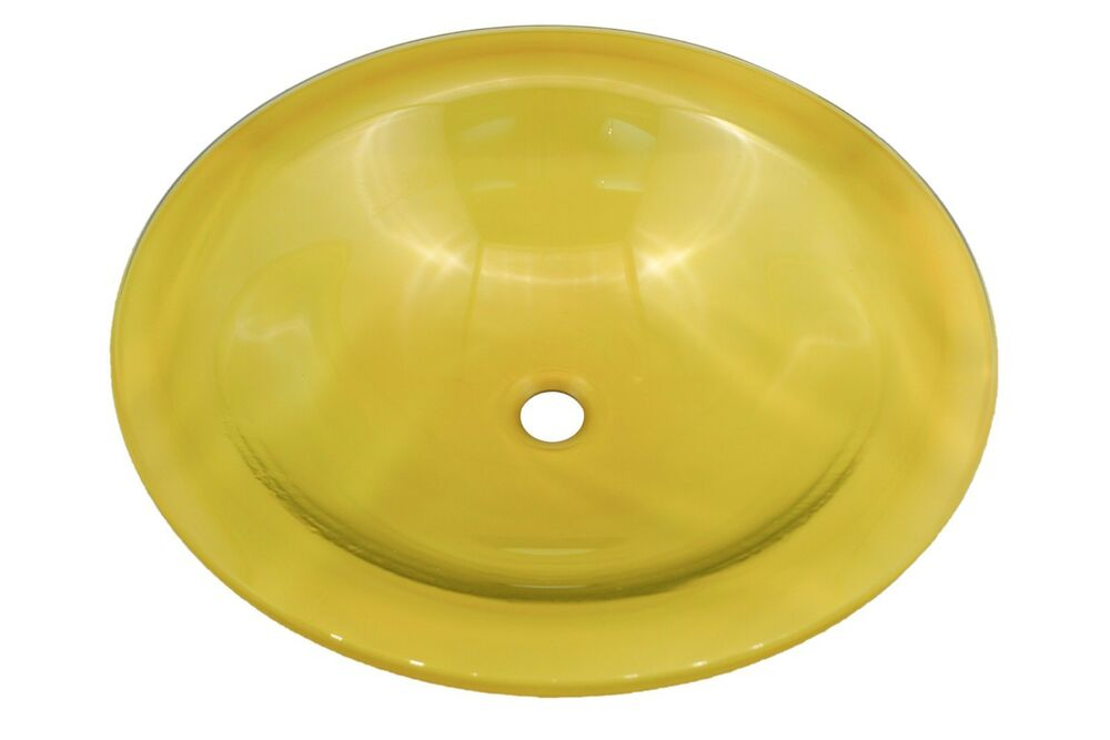 yellow bathroom sink bathroom glass vessel basin sink vanity bowl yellow ebay 15235