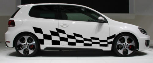 Checkers Checkered Car Side Body Graphics Decal Decals Ebay