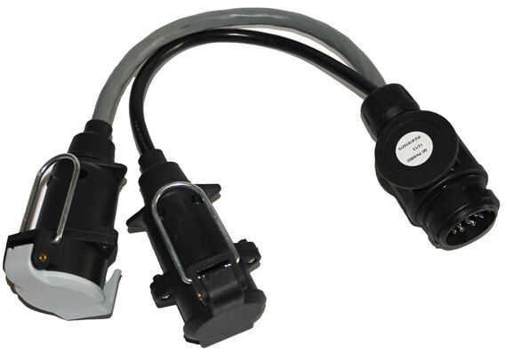 universal 13 pin to twin 12n 12s conversion lead towbar electrics wiring mp603 ebay. Black Bedroom Furniture Sets. Home Design Ideas