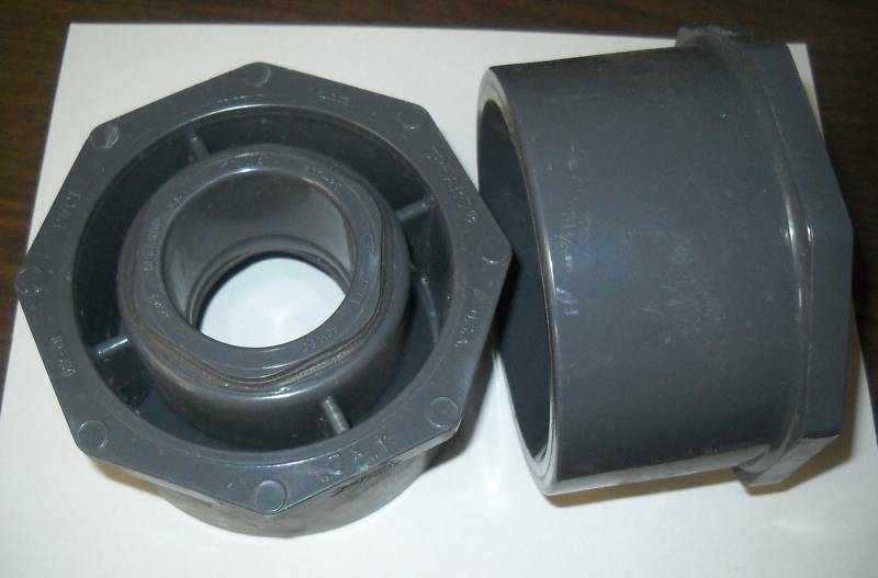 Spears pvc reducer bushing spigot sch quot glue