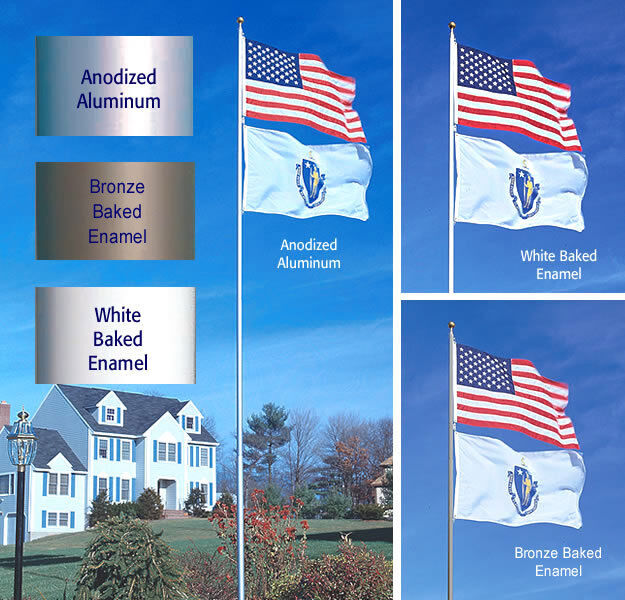 Sunsetter 20 Ft Telescoping Flagpole With Free American