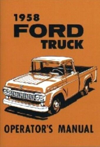 ford  truck owners manual  pick  ebay