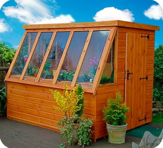 Wooden potting shed the suntrap ebay for Buy potting shed