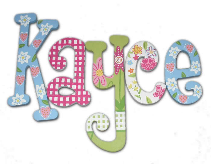 Painted wood letters nursery wooden wall name 14 inch ebay for Where to buy wooden letters for nursery