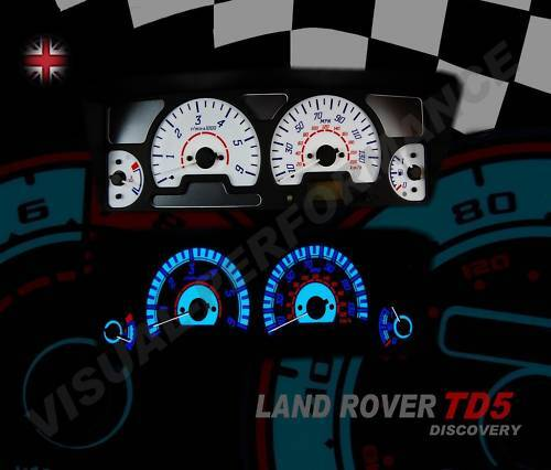Land Rover Discovery 2 Td5 White Dial Kit Speedo Dash