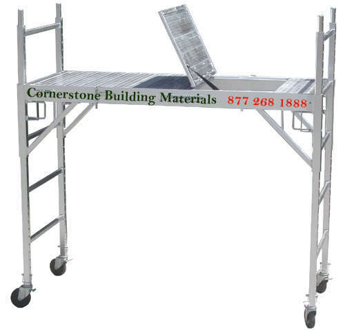 Aluminum Rolling Scaffold : Set of aluminum scaffold rolling tower w deck