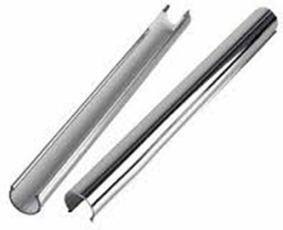 Snappit 15mm plastic pipe cover 3x 1m chrome decorative ebay for Poly sleeve for copper pipe