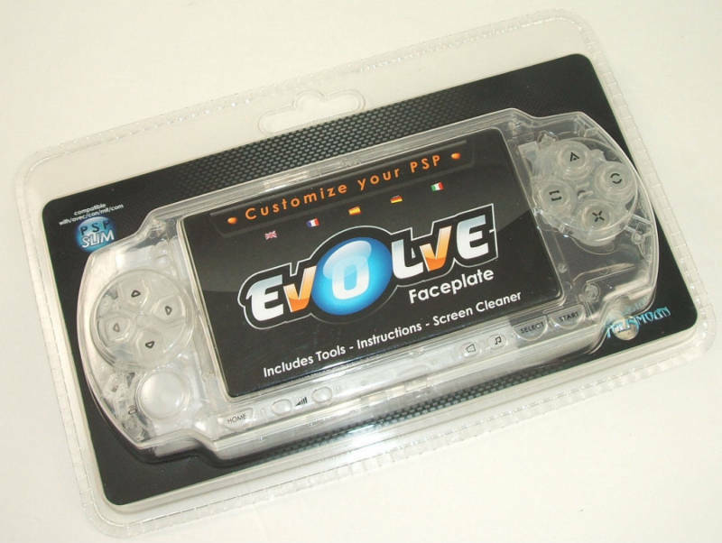 Psp 1000 Psp 2000 : New talismoon evolve psp faceplate clear ebay