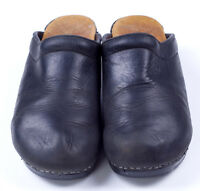 Dansko SANITA Oil Rubbed Black Mule Clog Sz 41 10.5