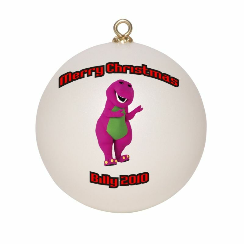 Baptism Ornament Personalized Christmas By Personalizedgallery: Personalized Barney Christmas Ornament