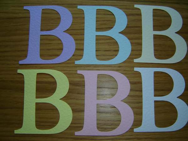 Alphabet letter b large die cuts for card toppers ebay for Large letter die cuts