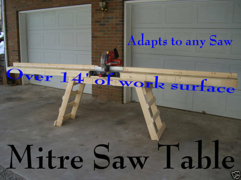 Miter Saw Stand Quot Build Your Own Quot How To Plans New Ebay