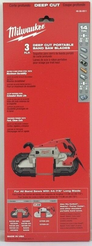 Milwaukee 48 39 0511 Standard Deep Cut 44 7 8 In Band