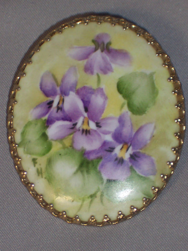 Vintage Hand Painted Brooches