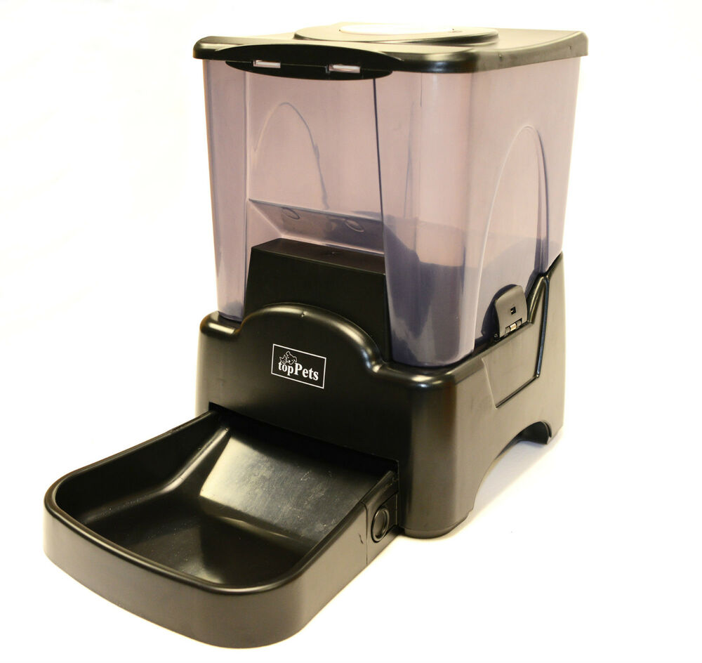 Auto Dry Cat Food Feeder