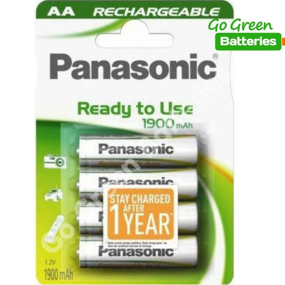 4 x panasonic aa rechargeable battery 1900 mah prev. Black Bedroom Furniture Sets. Home Design Ideas