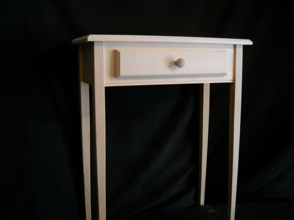 Unfinished 24 sofa console foyer beveled edge tapered for 24 wide console table
