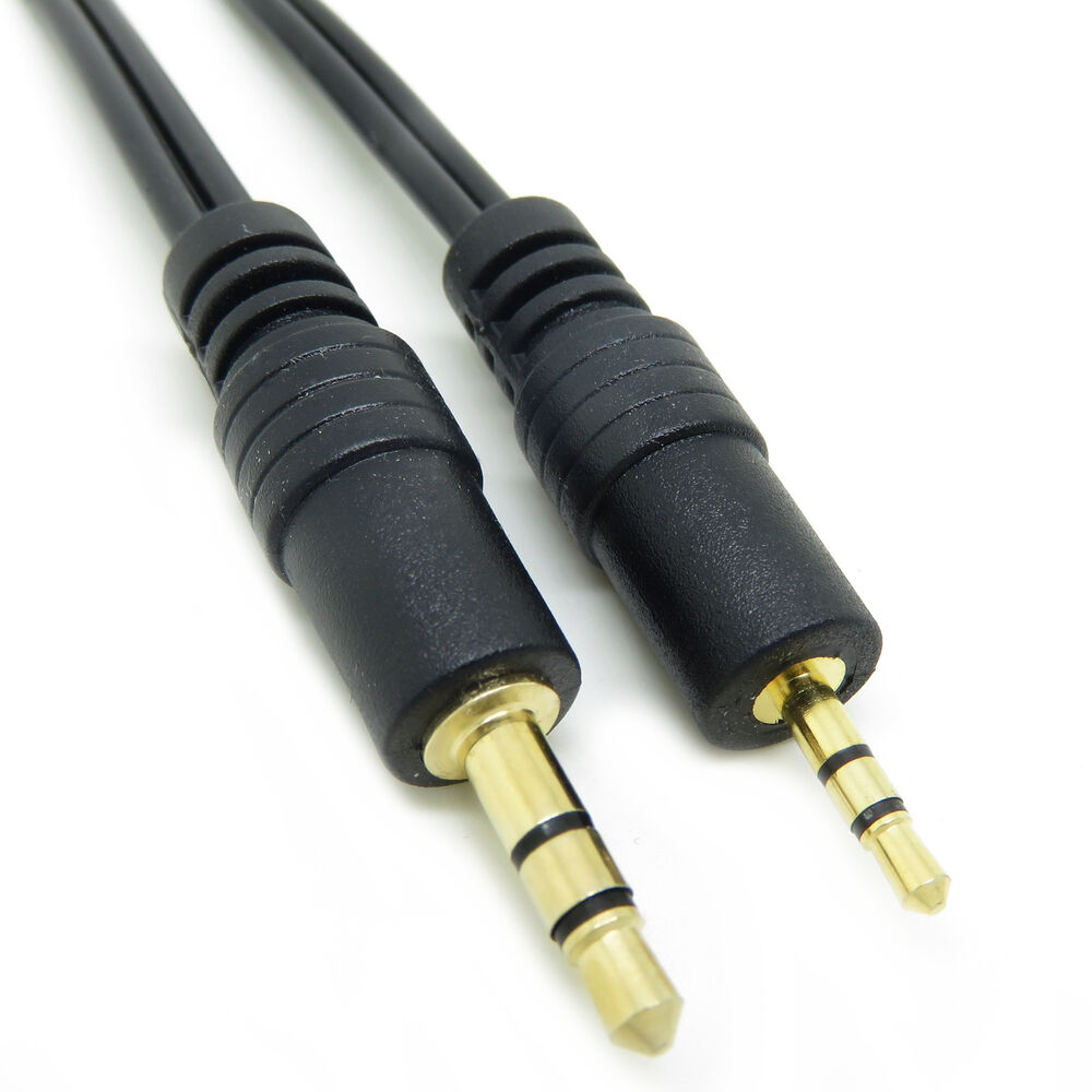 3m metre to jack male audio aux mp3 cable lead converter adapter ebay. Black Bedroom Furniture Sets. Home Design Ideas