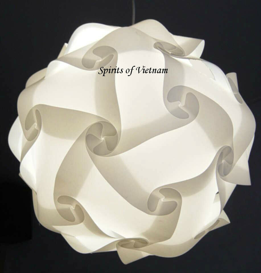 white iq light lamp modern puzzle jigsaw zelight 37cm ebay. Black Bedroom Furniture Sets. Home Design Ideas