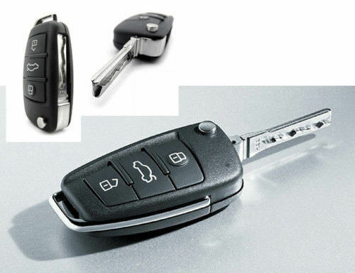 audi a3 a4 a6 3 button remote flip key fob case shell ebay. Black Bedroom Furniture Sets. Home Design Ideas